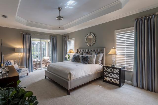 Large master bedroom in southwest Florida home