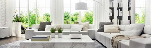 Modern white interior design