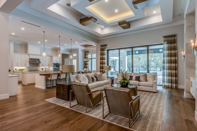 Spacious great room in newly built Florida home